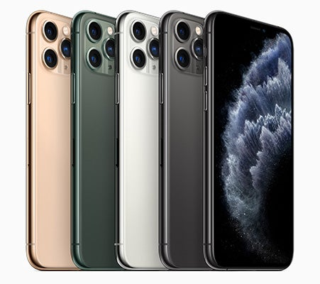 iPhone 11 Pro in four colours