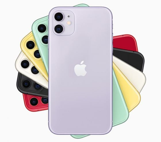 iPhone 11 in six different colours