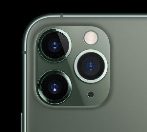 Closeup of iPhone 11 Pro rear cameras