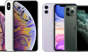 iPhone XR, XS and XS Max with iPhone 11, 11 Pro and 11 Pro Max