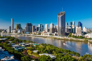 Areal image of Brisbane CBD and South Bank