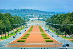 View from Australian War Memorial