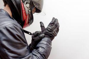Motorcycle Guy Wearing Helmet