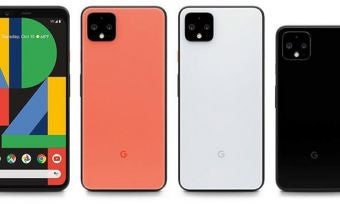 Google Pixel 4 and 4 XL phones in three colours