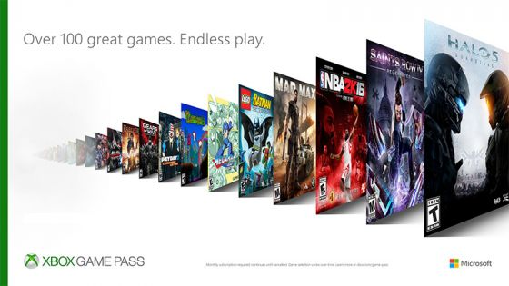 Games available with the Xbox Games Pass
