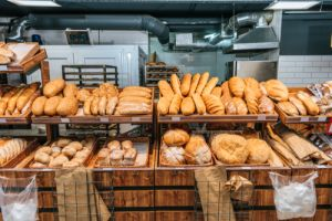 What is available at a supermarket bakery?