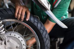 Motorbike tyre safety