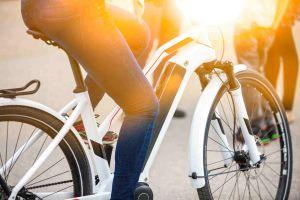 Electric bike close-up