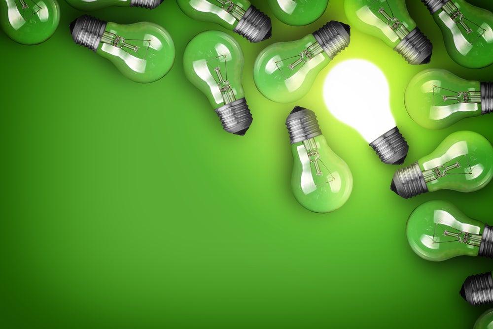 Green light bulbs