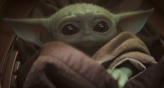 Official Disney still of yoda-like creature in The Mandalorian