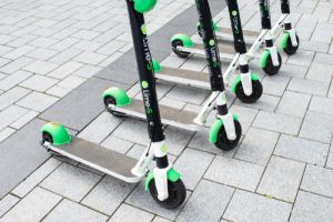 Lime Electric Scooters used for transportation