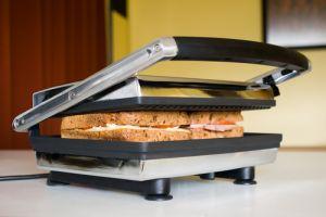 Sandwich press in use in modern kitchen
