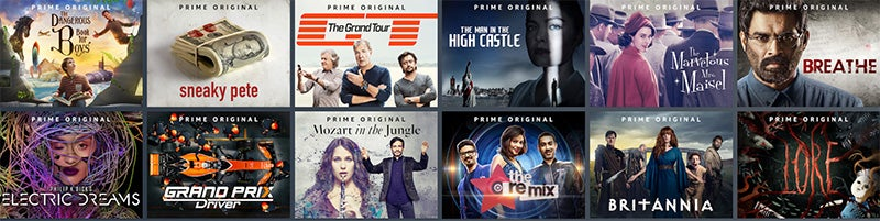 Sample of Amazon Original shows available on Prime Video