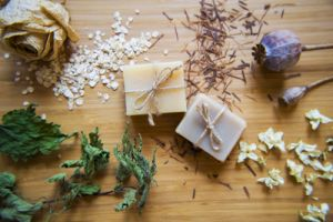 Handmade spa soap bars with natural ingredients