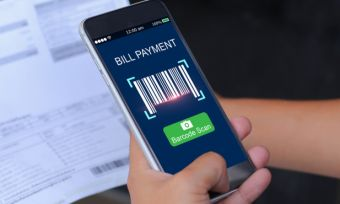 Mobile energy provider app scanning bill