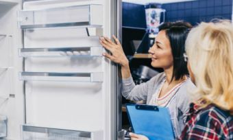 fridge in store buying