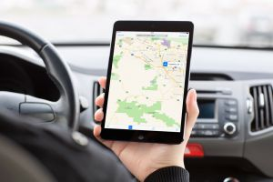 Maps on Tablet in Car