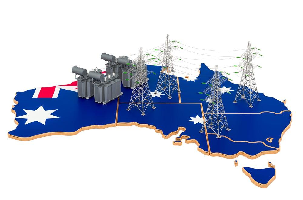 Australia electricity map