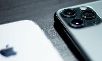 Closeup of iPhones