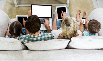 Family using data
