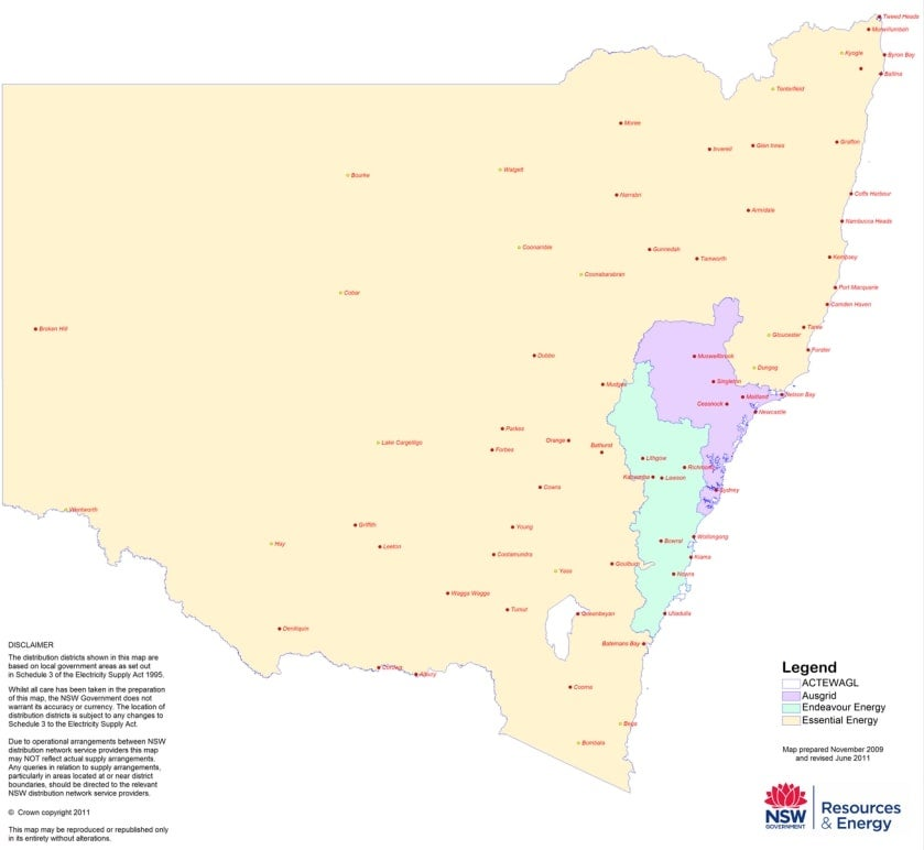 NSW-Distribution-Network-Map