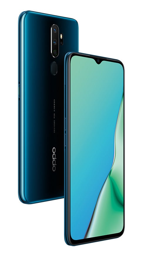 OPPO A5 2020 in marine green colour