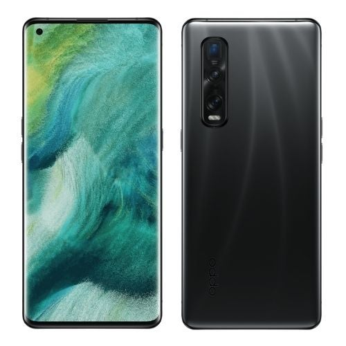 The back and front of an OPPO Find X2 Pro phone