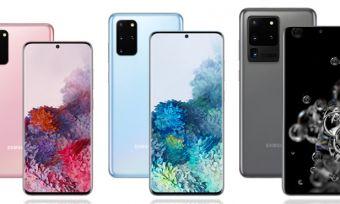 Range of Samsung Galaxy S20 Phones In Three Colours