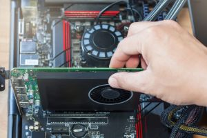 Pulling out graphics card