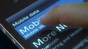 Mobile data usage phone