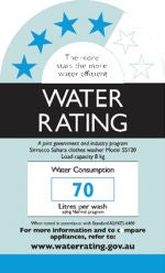 water rating label australia