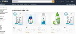 Amazon Australia désinfectant pour les mains disponible en Australie