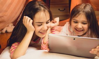 Kids streaming shows and movies on tablet