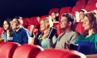 Friends at movies