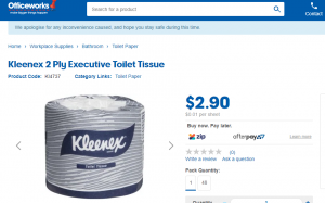 Buy toilet paper at Office Works online