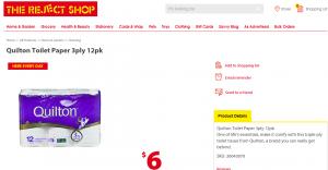 Buy toilet paper at Reject Shop online