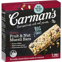 Carrman's muesli bar best rating review