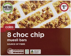 Coles muesli bar best rating review