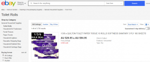 How to buy toilet paper on eBay