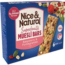Nice & Natural muesli bar best rating review