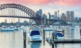 Sydney harbour bridge and cbd nsw