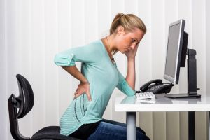 Back pain in desk chair