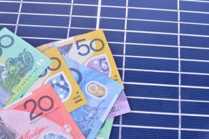 money on solar panel