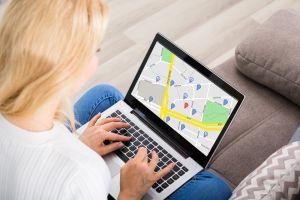 Location on laptop