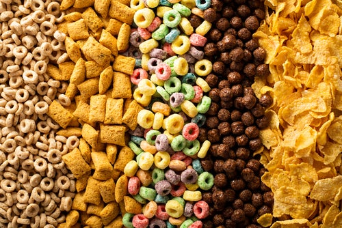 cereal top view