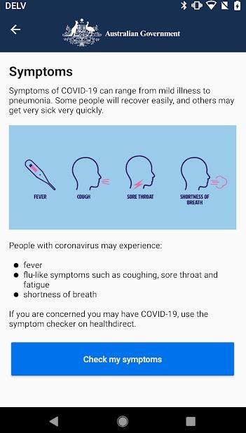 Coronavirus Australia screenshot 3