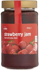 Coles_strawberry_Jam