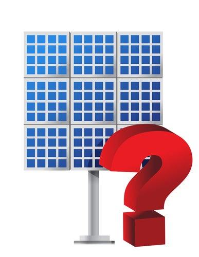 Solar panel question mark