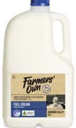 Best fresh milk full cream rating review compared Farmers' Own