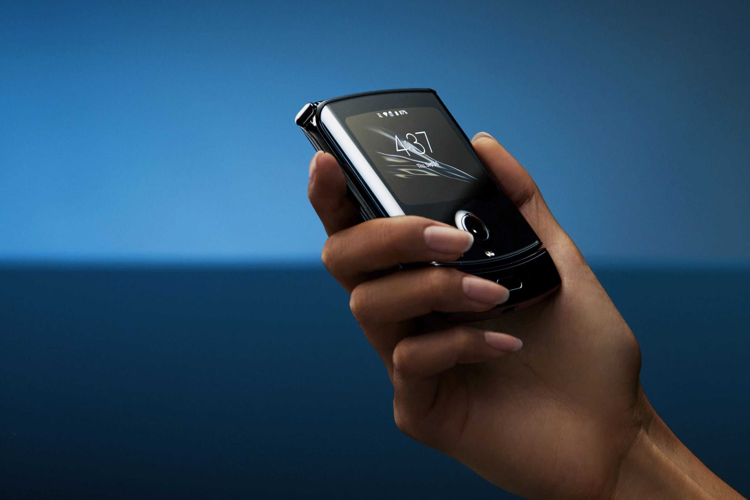 A Motorola Razr, a smartphone with a folding screen